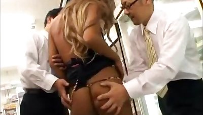 Kyoko set upon by two men to hand convenience store