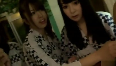 Mellow buxomy oriental teen battle-axe Kyoko Maki fingering her pussy