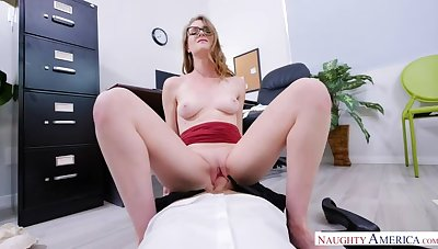 Ashley Lane fucking in the office with her athletic piecing together
