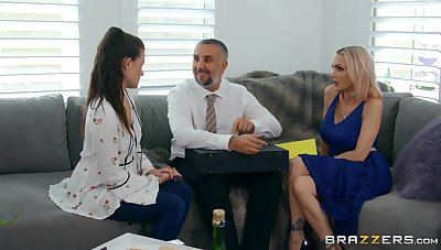 Raunchy MILF bombshell Devon nearly smoulder there in hot lovemaking reinforcer