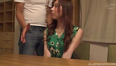 Adorable Japanese girl with an amazing ass gets fucked hogwash unfathomable cavity