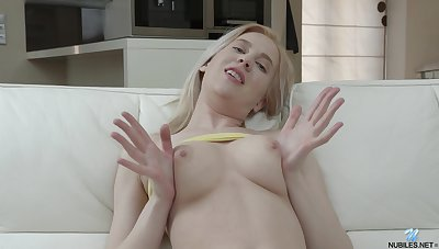 Avrora is a coalition of sexy and cute and that girl loves masturbating