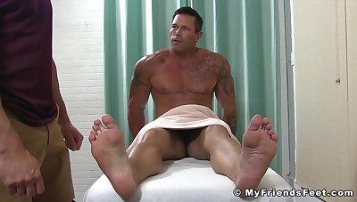 Feet Massage Turns Into Toe Sucking And Worship