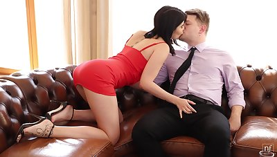 Marvelous cock riding porn by Little one D