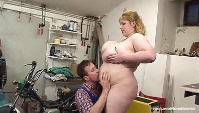 Chubby lady Angellyne Hart incredible porn scene