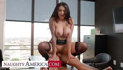 Naughty America: Big Titty Latina Carolina Cortez fucks co-worker for help in the first place PornHD