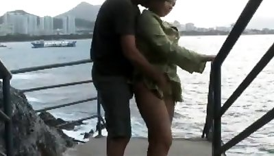 Making love by the water is always good plus hot with a blonde.