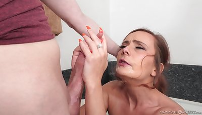 Strong mommy porn with chum around with annoy sex-mad step son