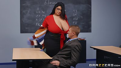 BBW instructor leaves younger hunk to destroy her sopping vagina
