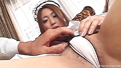 Homemade dilettante video with provocative Japanese Airi Hanabusa