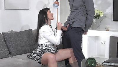 Wild horny woman with saggy tits Sissy loves unrefined enunciated intercourse