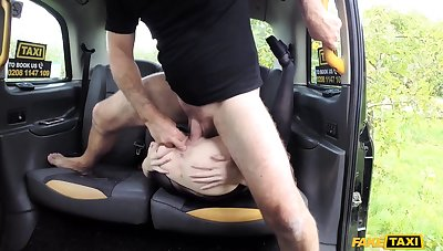 Naked wife gets hammer away dick on hammer away way home, and she loves it