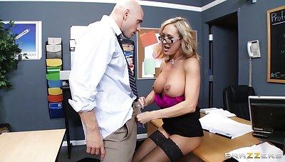 Teacher Brandi Love enjoys pleasuring a stiff dick of will not hear of student
