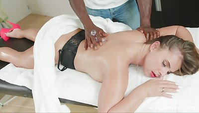 Massage leads married woman to crave for the BBC