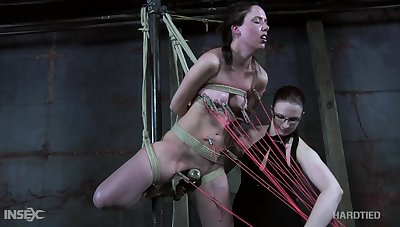 Slew of ropes are needed to tie submissive cold bitch up tonight