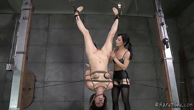 Paintoy Emma and Elise Graves love having BDSM copulation in be transferred to dungeon