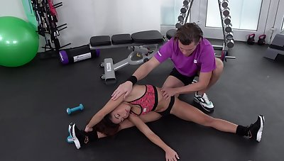 Workout district becomes a sexual playground be useful to Melody Petite