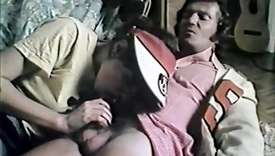 French Vintage Hairy French Teen Has Sex
