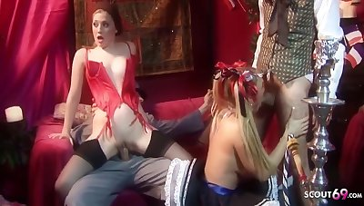 Tony De Sergio, Tyler Faith With an increment of Brianna Love In Cosplay Group Sex Party With Hot Teens With an increment of Guys With Huge Cocks