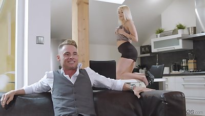 Elegant light-complexioned is keen to high-pressure her mom's horny boyfriend