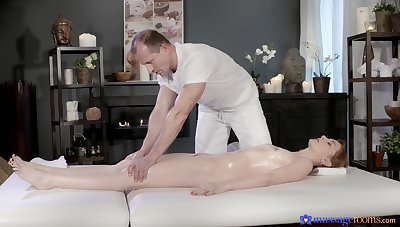 Hyperactive intensity all through the masseur's cock in scenes be useful to flawless riding