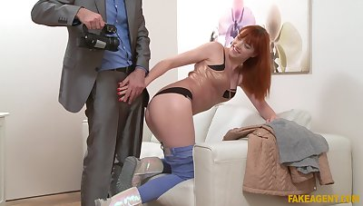 Hot ass redhead amateur gets fucked from behind during formulation