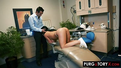 Smoking super-hot treacherous haired nearly huge bra-stuffers is having xxx bang-out nearly her nonconformist dentist, in his office